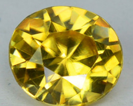 ~CUSTOM CUT~ 2.38 Cts Natural Golden Zircon Oval Cut Tanzania