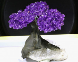 1100 CTS  BEAUTIFUL AMETHYST TREE CARVING   LT-1028