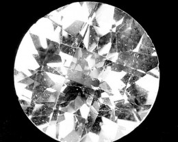 Unheated!!  4.80 Cts Natural White Topaz 10mm Round Checkerboard Cut Brazil