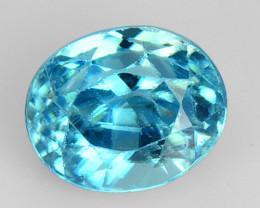 1.18 CTS  BLUE ZIRCON NATURAL LOOSE GEMSTONE