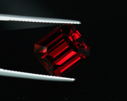 HUGE 10.24CT PRECISION CUT BRIGHT RED GARNET $1NR!