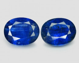 8.09 Cts 2 Pcs Fancy Royal Blue Color Natural Kyanite Gemstone