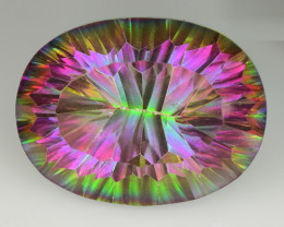 18.34 CT MYSTIC QUARTS TOP CLASS CUT GEMSTONE MT6