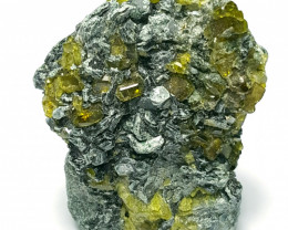 Stunning Natural color Damage free Epidote with lovely Mica 50Cts-P