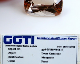 NR!!! GGTI-Certified- 1.75 Cts Peach Morganite Gemstone