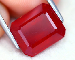 Red Ruby 6.67Ct Octagon Cut Pigeon Blood Red Ruby B2307