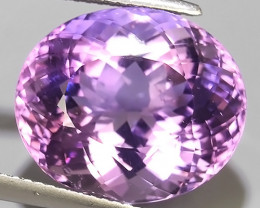 14.35 CTS MAGNIFICENT NATURAL SWEET-VIOLET AMETHYST NICE OVAL~CUT