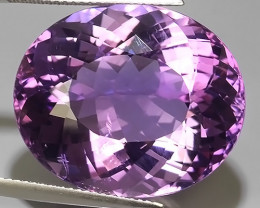 36.20 CTS MAGNIFICENT NATURAL PURPLE-VIOLET AMETHYST NICE OVAL~CUT