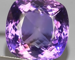 40.30 CTS TOP EXCELLENT NATURAL SUPER RARE CUSHION VIOLET!!
