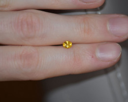 0.46ct  Intense-Vivid Yellow Sapphire - BE-trea. -
