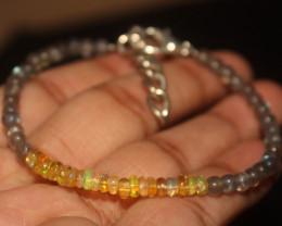17 Crts Natural Ethiopian Welo Opal & Labradorite Bracelet 198