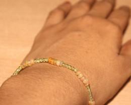 16 Crts Natural Ethiopian Welo Opal & Peridot Bracelet 195