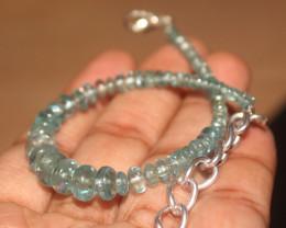 30 Crts Natural Apatite Beads Bracelet 207