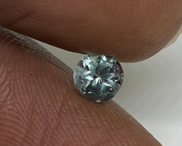 (A)  Dazzling 0.49ct Natural Round Blue Green to Red Alexandrite