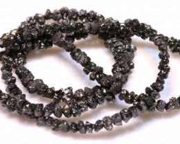 35CTS BLACK DIAMONDS GENUINE NATURAL STRAND TBG-2