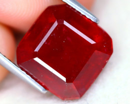 Red Ruby 9.18Ct Square Cut Pigeon Blood Red Ruby B2416