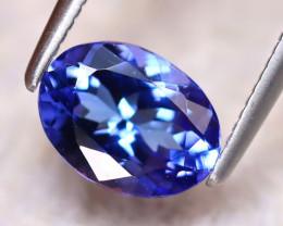 Tanzanite 1.33Ct Natural VVS Purplish Blue Tanzanite DR385/D4