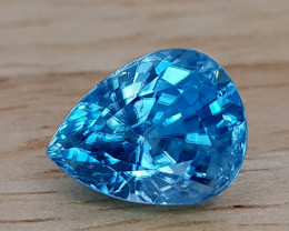 4Crt Natural Blue Zircon Natural Gemstones JI01