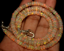 53 Crts Natural Ethiopian Welo Opal Beads Necklace 797