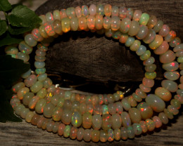 56 Crts Natural Ethiopian Welo Opal Beads Necklace 781