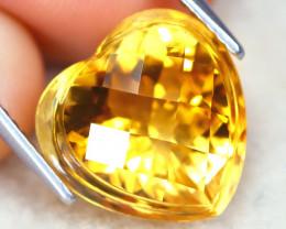 Citrine 6.47Ct VVS Designer Cut Natural Golden Yellow Citrine AT1146