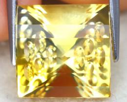 Citrine 8.37Ct VVS Designer Cut Natural Golden Yellow Citrine AT1147