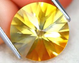 Citrine 4.66Ct VVS Designer Cut Natural Golden Yellow Citrine AT1148