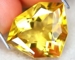 Citrine 8.40Ct VVS Designer Cut Natural Golden Yellow Citrine AT1150