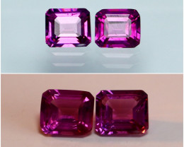 1.80 CTs Natural - Unheated Purple To Red Color Change Garnet Gemstone Pair