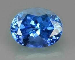 2.10 CTS~SPECTACULAR NATURAL ULTRA RARE LUSTER BLUE TANZANITE~$620.00