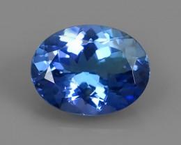 2.00 CTS~SPECTACULAR NATURAL ULTRA RARE LUSTER BLUE TANZANITE~$600.00