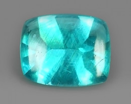 3.60 Cts Surprising Cushion Outstanding Unheated Natural Apatite Blue!!