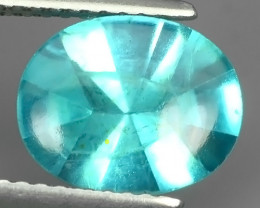 2.40 CTS RAVISHING TOP PARAIBA NEON GREEN~BLUE APATITE OVAL GEM BRAZIL!!!