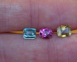 Tourmaline - 3 kind - Glowing and Full Fire -