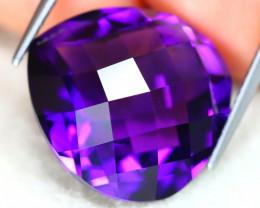 Uruguay Amethyst 14.35Ct VVS Pixalated Cut Natural Violet Amethyst AT0057