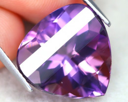 Uruguay Amethyst 9.38Ct VVS Pixalated Cut Natural Violet Amethyst AT1156