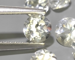 5.75 CTS TOP DAZZLING NATURAL ULTRA 5.22MM ROUND  WHITE TOPAZ EXCELLENT!!