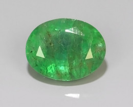 1.25 CTS NATURAL EMERALD ZAMBIA TOP COLOR OVAL EXCELLENT!!