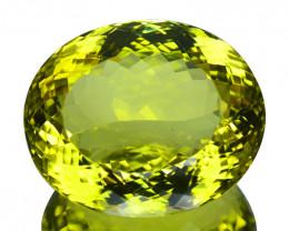 ~GORGEOUS~ 46.51 Cts Huge Natural Lemon Quartz Oval Cut Brazil