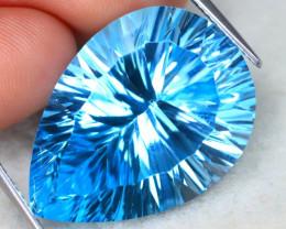 Swiss Blue Topaz 34.99Ct VS Laser Cut Natural Swiss Blue Topaz A2507
