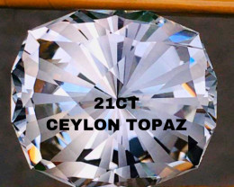 21.40 CT -TOPAZ-WHITE  - CEYLON- MASTER CUT !!