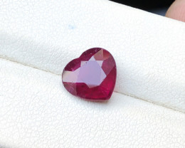 2.55 Ct Natural Red Heart Shape Transparent Rubellite Tourmaline Gemstone