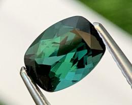 1.50 Cts Brazil Bluish Green Tourmaline Custom Cut VVS