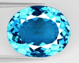 15.70 Carat London Blue Natural Topaz Gemstone