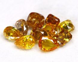 Fancy Diamond 1.08Ct 10Pcs Natural Untreated Fancy Diamond Lot C2511