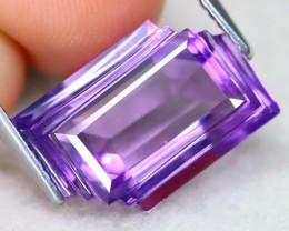 Amethyst 7.58Ct VVS Designer Cut Natural Bolivian Purple AmethystAT1164