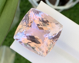 61.40 Cts AAA Grade Natural Pink Kunzite Excellent Cut Amazing Luster