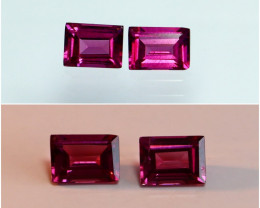 1.25 CTs Natural - Unheated Purple To Red Color Change Garnet Gemstone Pair