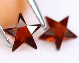 1.40cts Natural Star Cut Orangish Red Spessartite Garnet Pairs / MA844