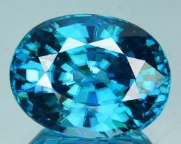 8.72Cts Natural Sparkling Blue Zircon Cushion Cut Cambodia
